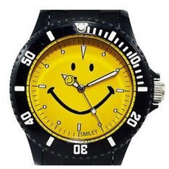 スマイリー SMILEY 腕時計 レディース/キッズ WGHB-OC-BKYV01 ブラック×イエロー
