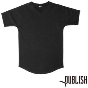 【PUBLISH BRAND/パブリッシュブランド】KYLAN カットソーTシャツ / BLACK