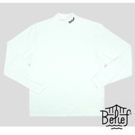 【BELIEF NYC/ビリーフニューヨーク】CONNECT MOCK-NECK TOPS モックネックカットソー / WHT