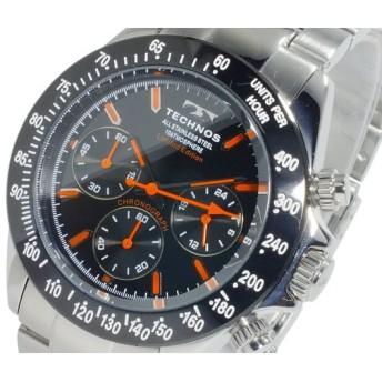 テクノス TECHNOS クオーツ メンズ クロノ 腕時計 時計 T4344SO 代引不可