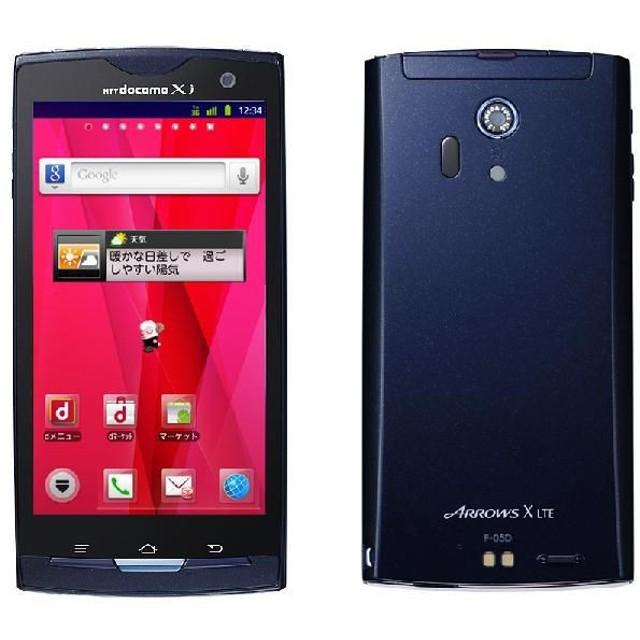 5%還元対象◆※〇判定【白ロム】 NTT docomo ARROWS X LTE F-05D ブルーブラック 【新品未使用】