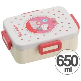 お弁当箱 ハローキティ 色鉛筆 4点ロックランチボックス 1段 650ml キャラクター ( 食洗機対応 弁当箱 4点ロック式 )