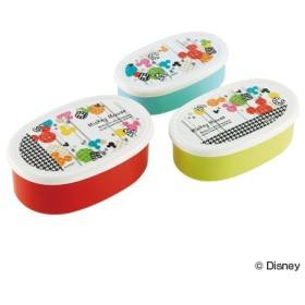 ■在庫限り・入荷なし■お弁当箱 シール容器 ミッキーマウス ジョイフル 3個入 子供用 キャラクター ( 弁当箱 ランチボックス 保存容器 )