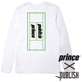 【PUBLISH BRAND/パブリッシュブランド×PRINCE/プリンス】BALL  COURT L/S ロングTシャツ / WHITE