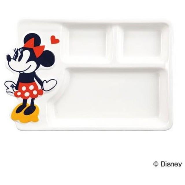 ■在庫限り・入荷なし■なかよしランチプレート ミニーマウス ランチ皿 食器 子供用 キャラクター ( お皿 お子様ランチ 子供用食器 )