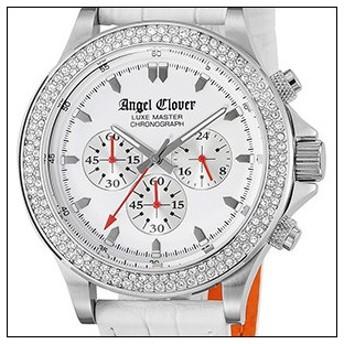 Angel Clover エンジェルクローバー 腕時計 LM46SWZ-WH メンズ LUXE MASTER リュクスマスター クロノグラフ