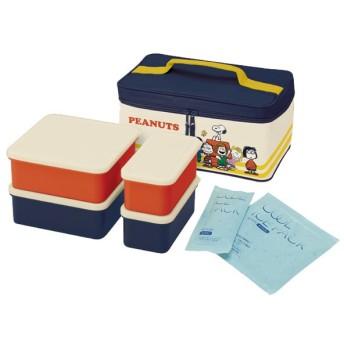 ピクニックランチボックス お弁当箱 スヌーピー ランチタイム 保冷バッグ付 行楽ランチセット ( お重 キャラクター 重箱 保冷剤付 ランチボックス )