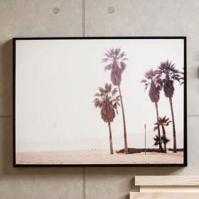 壁掛けアート アートフレーム アートパネル モノクロ パームツリー 60×80cm フォト 写真 黒 ブラック フレーム パネル インテリア シンプル スタイリッシュ