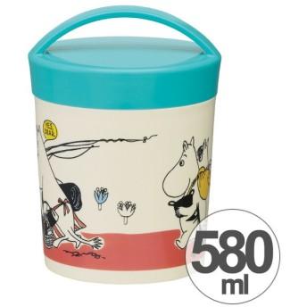 【アウトレット セール】お弁当箱 カフェカップランチボックス ムーミン パレット 丸型 2段 580ml ( レディース カップ型 食洗機対応 )