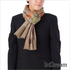 メンズパシュミナ刺繍ショール [100cm巾] ベージュ08 インド ストール カシミールショール 着物ショール 結婚式やパーティー フォーマル ギフト 送料無料