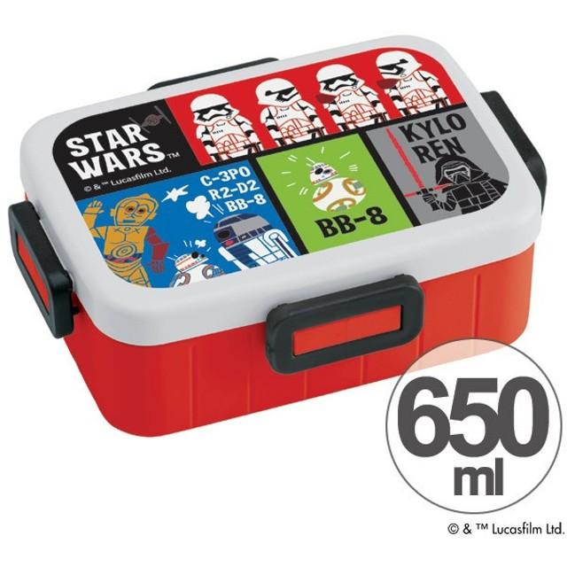 お弁当箱 スターウォーズ STAR WARS フォースの覚醒 ペーパーカット 4点ロックランチボックス 1段 650ml ( 食洗機対応 弁当箱 スター・ウォーズ )