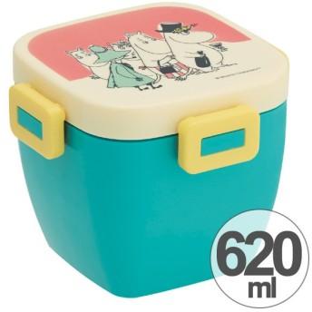 ■在庫限り・入荷なし■お弁当箱 4点ロック カフェ丼ランチボックス 2段 どんぶり型 ムーミン パレット 620ml ( ランチボックス 4点ロック式 どんぶ