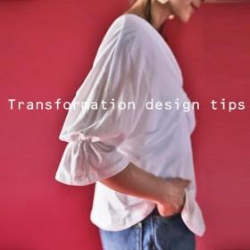 熱視線感じるトップス。デザイン袖トップス・再販。『フロントスリットでただものではない。』##「G」メール便不可