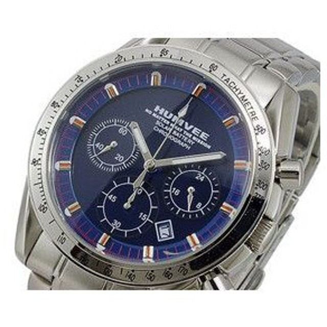 ハンヴィー HUMVEE ソーラー メンズ クロノ 腕時計 H-3824BL