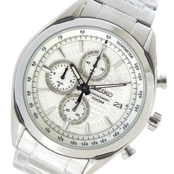 セイコー SEIKO クオーツ メンズ 腕時計 時計 SSB173P1 ホワイト 代引不可