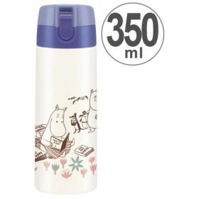 ■在庫限り・入荷なし■水筒 ムーミン お花畑 直飲み ワンプッシュステンレスマグボトル 350ml