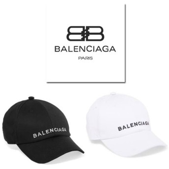 バレンシアガ ロゴ ベースボールキャップ BALENCIAGA ブラック/BLACK ホワイト