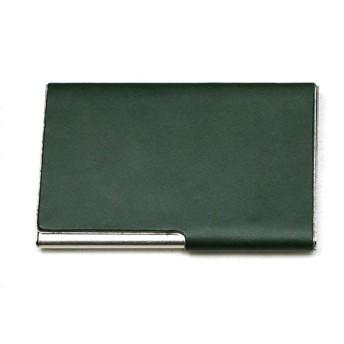 リベロ LIBERO 栃木レザー 名刺入れ カードケース ユニセックス LJ-701-GR グリーン