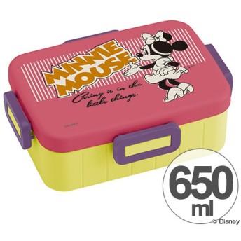 お弁当箱 ミニーマウス バッジコレクション 4点ロックランチボックス 1段 650ml キャラクター ( 食洗機対応 弁当箱 4点ロック式 )