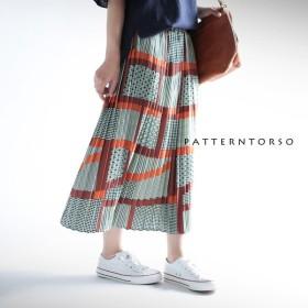 名作レトロのお目見え。レトロプリーツスカート・再販。ドット 幾何学 ##「G」メール便不可