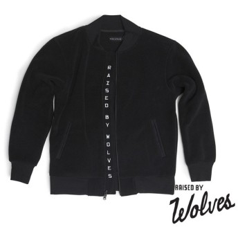 【RAISED BY WOLVES/レイズドバイウルブス】STACKED BOMBER JACKET ボンバージャケット / BLACK