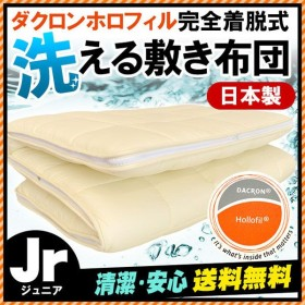 敷布団 敷き布団 洗える ジュニア 日本製 インビスタ ダクロン ホロフィル 完全着脱式ウォッシャブル敷きふとん 別注サイズ