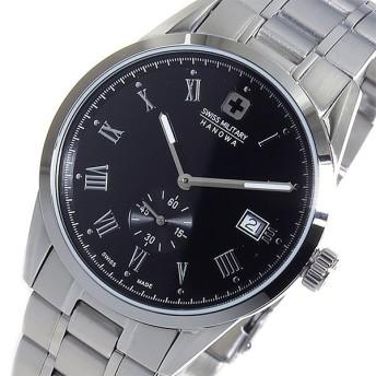 スイスミリタリー SWISS MILITARY クオーツ メンズ 腕時計 時計 ML-344 ブラック 代引不可