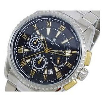 サルバトーレ マーラ SALVATORE MARRA クオーツ メンズ クロノ 腕時計 SM13114-SSBKGD