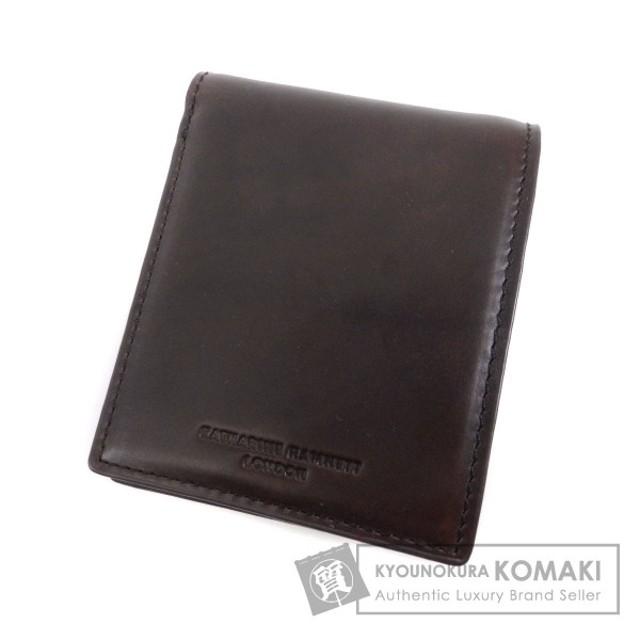71c18c86602e KATHARINE HAMNETT キャサリン・ハムネット ロゴ型押し 二つ折り財布(小銭入れあり