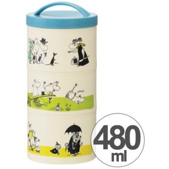 お弁当箱 ムーミン パレット ボトル型 3段 縦型 480ml キャラクター ( 縦型 食洗機対応 レディース )