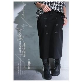 今どき魅せの最短ルート。オリジナルミリタリースカート・再再販。ひざ丈 旬 ##「G」
