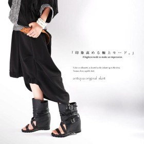 艶っぽさ溢れる黒で物語るモード。モード変形スカート##・再再販。メール便不可