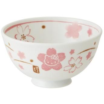 ■在庫限り・入荷なし■茶碗 HelloKitty 和風 ハローキティ 手書き風さくら 陶器 食器 ( お茶碗 飯碗 和食器 ご飯茶碗 お碗 )
