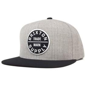 ブリクストン スナップバックキャップ オース ヘザーグレー 帽子