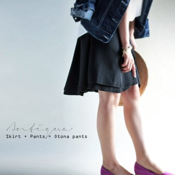 後ろ姿はもはやスカートって。デザインハーフパンツ・再再販。『揺れ〜、ひらり風とともに。』##「G」メール便不可