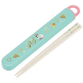 箸&箸箱セット スライド式 PETS ペット 食洗機対応 子供用 キャラクター ( 子供用お箸 箸&ケース カトラリー )