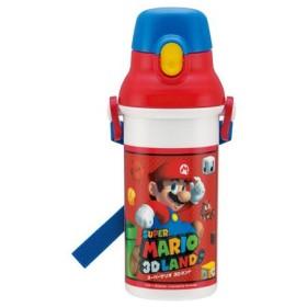 ■在庫限り・入荷なし■子供用水筒 スーパーマリオブラザーズ 直飲みプラワンタッチボトル 480ml プラスチック製 キャラクター