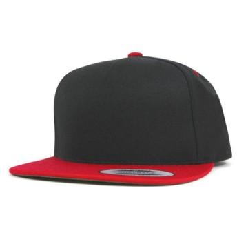 フレックスフィット スナップバックキャップ ユーポン プレミアム 5パネル 2トーン ブラック 帽子 [返品・交換対象外]