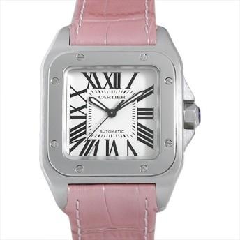 48回払いまで無金利 カルティエ サントス100 MM W20126X8 中古 レディース 腕時計 キャッシュレス5%還元