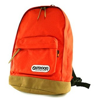 OUTDOOR PRODUCTS アウトドアプロダクツ コーデュラナイロン×スウェード底 デイパック 4052EXPT 74 オレンジ ORANGE [PO10]