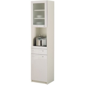 パモウナ 食器棚YC 〔幅40.4×高さ180cm〕 YC-S400R プレーンホワイト〔代引不可〕