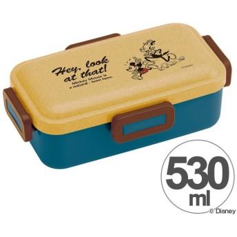 ■在庫限り・入荷なし■お弁当箱 ミッキーマウス ウッド風 ふわっと弁当箱 530ml キャラクター ( 食洗機対応 弁当箱 ランチボックス )