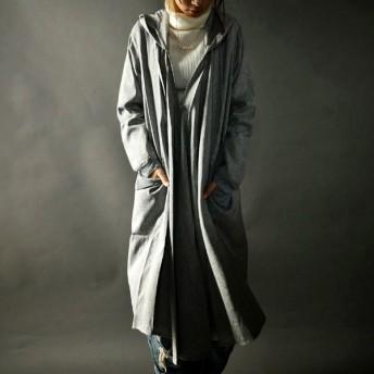 大人っぽいフードなら断然。モードフーデッド羽織り・再再販。軽く、羽織る、モードデザイン。##「G」メール便不可