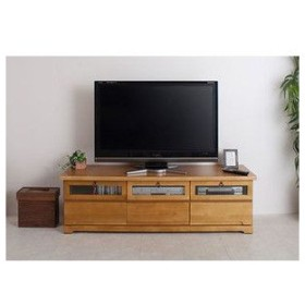 カントリー 天然木パイン材TV台 幅153.5cm ライトナチュラル色