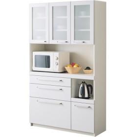 パモウナ 食器棚YC 〔幅105×高さ180cm〕 YC-S1050R プレーンホワイト〔代引不可〕
