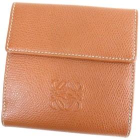 LOEWE【ロエベ】 アナグラム 二つ折り財布(小銭入れあり) レザー レディース 【中古】