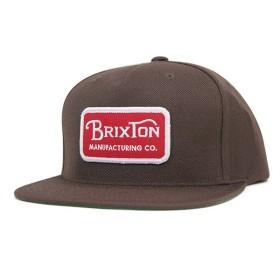 ブリクストン スナップバックキャップ グレード ダークブラウン 帽子 [返品・交換対象外]