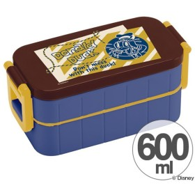 お弁当箱 2段 ドナルドダック バッジコレクション 600ml 箸付き レディース ( ランチボックス 弁当箱 2段弁当箱 )