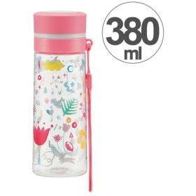 水筒 ブローダイレクトボトル ララ・ブルーム プラスチック製 380ml ( 軽量 直飲み ストラップ付 )