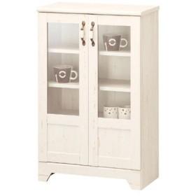 キャビネット バニラッテ ガラス扉 ( シェルフ 収納 食器棚 カップボード )